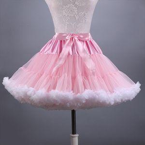 2020 New Adult Short Tulle Pettiskirt Colorful Tutu Skirt Crinoline Jupon Saia for Women Drop Shipping