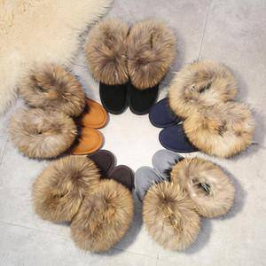 LEOSOXS Winter Shoes Women Snow Boots Winter Women Boots Warm Fur Ankle Platform Flat Cow Suede Female Shoes