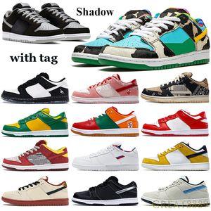 Classico basso Shadow Shoes Pallacanestro Scarpe Chunky Pro Muslin Black Truck It Travis Scotts Sneakers San Valentino Parra formatori