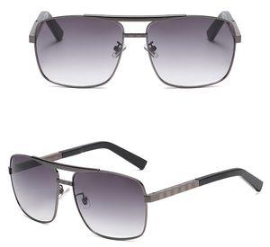 1 Сет Лето Женщина Металлические Солнцезащитные очки С Кейсным Ткань Мода Вождение Солнцезащитный Человек Спорт Пляж Велоспорт Очки + Box Goggle Бесплатная Доставка