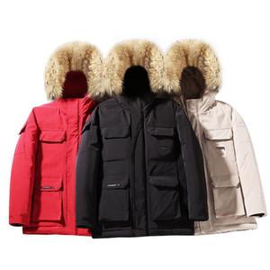 Herramientas de invierno Parkas de viento Abrigos sueltos de los hombres Abrigo cálido grueso de los hombres Hombres Canadá Estilo de moda Liner de algodón Parkas Chaqueta Gran tamaño M-4XL