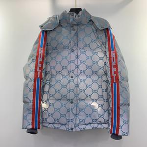 mann designer kleidung hoodie reflektierende stoff buchstaben jacke herren wintermäntel männer designer pullover männer sattel blau
