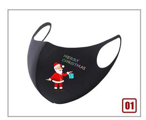 Black Christmas Masks Santa Claus Regalo Impreso Diseñador Máscaras Moda Dibujos animados Algodón Máscara Año Nuevo Decoración 20 diseños