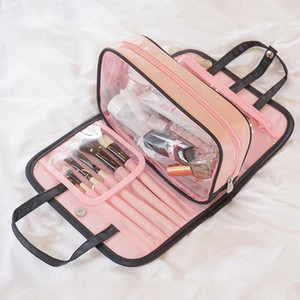 New Color Matching Cosmetic Storage Bag Two-piece Wash Bag PVC Cosmetic Pattern Type Style Item Width Item Height Origin