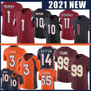 Kyse Murray Larry Fitzgerald 99 Chase Young Football Jersey Draw Lock Jerry Jeudy Von Miller Courtland Sutton Bradley Chubb Haskins Taylor