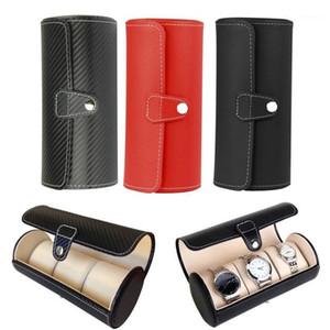Luxury Watch Display Gift Box Case Roll 3 Slot Wristwatch Necklace Bracelet Jewelry PU Leather Box Storage Travel Pouch1