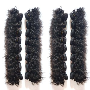 Brazilian human hair Weave kinky curly 6-12inch Soft and smooth No shedding no knotting superior Afro-American hair extensions mass stock