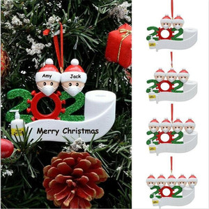 DHL السفينة في الأوراق المالية زخرفة عيد الميلاد DIY 2020 الحجر عيد الميلاد عيد ميلاد الحزب جائحة التباعد الاجتماعي عيد الميلاد اكسسوارات شجرة