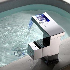 Becola conduziu o controle de temperatura de torneira de água fria e quente da taucet de cachoeira lavagem água hidroeléctrica Bacia Frete grátis1
