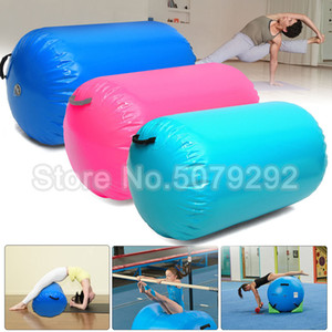 Free delivery free inflatable gymnastic air bucket 60cm   85CM dia air roller different colors of Yoga roller cheap