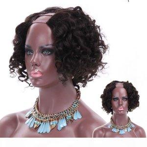 human hair bob wig u part short cut curly bob wigs brazilian virgin remy hair upart wigs for black women