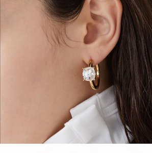 AMBUSH High-quality water drill 925 pure silver earrings temperament ladies fashion personality Earrings