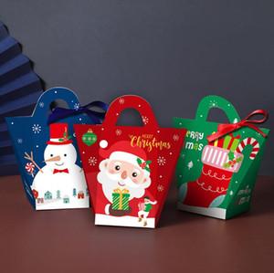 Creative Christmas Eve Scatole regalo Carry Borse Xmas Candy Box Santa Claus Carta Contenitori regalo Case Design Stampato Box Box Decorazione AHC4243