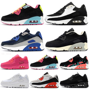 Nike Air Max 90 Kinder Sportschuhe Presto 90 II Kinder Laufschuhe Schwarz Weiß Baby Infant Sneaker 90 Kinder Sportschuhe Mädchen Jungen Jugend Trainer
