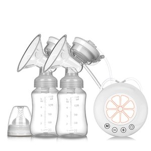 واحدة / مزدوجة USB مضخة كهربائية مع حليب الطفل زجاجة الحرارة الباردة الوسادة BPA الثدي قوية خالية مضخات C1016
