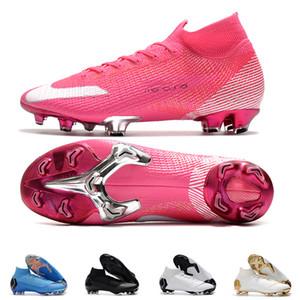 Mens FG Cleats Superfly Elite 360 Mbappe Rosa Neymar parte alta del tobillo zapatos de fútbol al aire libre Ronaldo CR7 Mercurial fútbol Crampones Botas