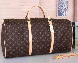 55cm PU-Leder Designer Männer Koffer Gepäck Sport Outdoor Packs Schulter Reisetaschen Messenger Bag Totes Taschen Unisex Handtaschen Duffel Bag