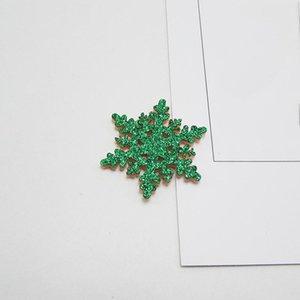 Fournitures de décoration de Noël Fournitures Garland Cadeau Carte de voeux Matériel Accessoires Gold Powder Snowflake Pendentif Enfant Pince à cheveux Coiffe HWF2856
