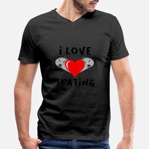 Skateboarding - J'aime Patinage T-shirt Cool Belle Vintage Tracksuit Sweat à capuche Sweatshirt