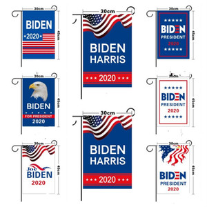 2020 The Election Flag 30*45cm Garden Flag 8 Styles Blue White Letters Print Graden Banners Decoration Boutique 2020 President E111103
