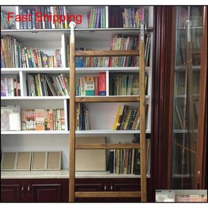الفولاذ المقاوم للصدأ انزلاق مكتبة مكتبة الأجهزة انزلاق حظيرة سلم مكتبة سلم الأجهزة f qyljhf toys2010