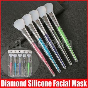 Diamond Silicone Facial Mask Brush Cream Mixing Silicone Brush Makeup Brush Face Skin Care Tools Makeup Tools
