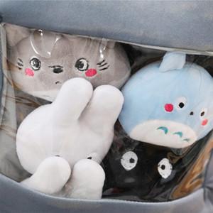 Cutie Snack En forme de poupée Big Paquet de Caricature Japon Figure Multi-Couleur 10cm Mini Totoro Peluche Peluche Jouets Big Eyes Cheesy Puffs Jouet 201102