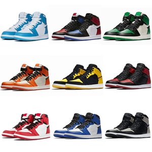 Nike Dior X air jordan 1 shoes Basketball Shoes AJ1 running shoes ayakkabıları 1s Racer Mavi Travis Scotts Korkusuz Obsidian UNC Erkek Kadın Chicago Yasaklı