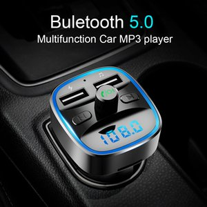 Car Mp3 Player Bluetooth 5.0 Receiver FM Transmitter Dual USB Cars Charger U Disk TF Card Interior Accessories