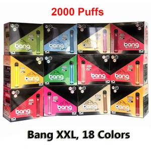 Mevcut Bang XXL 2000 poğaçalar Tek Vape elektronik sigara 800mAh 6 ml tek kullanımlık Çubuk Vape Kalem 18 Renkler