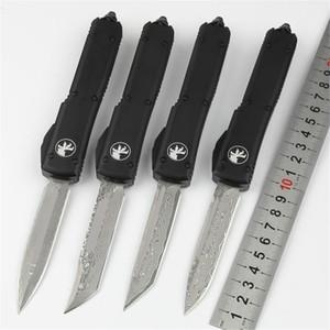 Damaskus Microtech UT70 Outdoor-Camping-Messer Klinge aus Damaststahl Aluminiumlegierung schwarz Titan Griff automatische edc Taschen taktisches Messer
