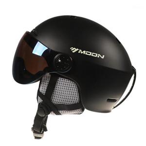 Casco de esquí con gafas integradas Snow Sports Snowboard Skateboard Helmets para hombres Mujeres Deportes al aire libre Ski1