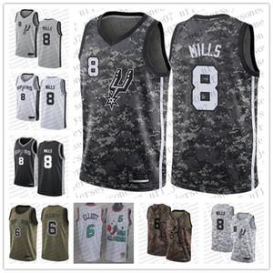 Mujer de los hombres jóvenes San AntonioEspuelas6 Sean Elliott # 8 Patty Mills Camo Realtree baloncesto swingman de colección personalizada Jersey