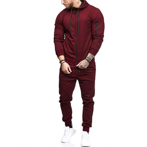 Tracksuit Set Sporting 2 Pieces Sweatsuit Clothes Hoodies Jacket & Pants Track Suit Men Joggers Streetwear LJ201126