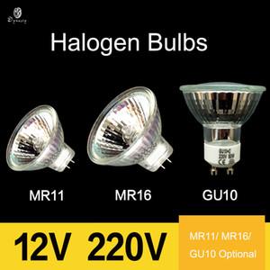 10pcs / Lot halogène Spot Ampoules MR11 / MR16 / GU10 Divers Support traditionnel 12V / 220V halogène d'appareils d'éclairage Blanc Chaud Ampoules bateau libre