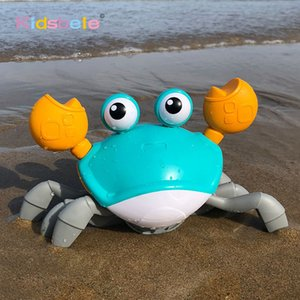 Hot Sale Bath Toys Big Crab Clockwork Baby Infant Water Classic Toy Beach Toys For Baby Drag Baby Bath Tub Summer Toys For Kids 201016