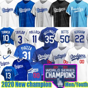 Mookie Betts Clayton Kershaw Dodgers Baseball Jersey Los Angeles Corey personnalisé Seager Cody Bellinger Justin Turner Enrique Hernandez Urie J