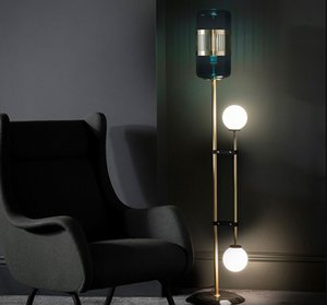 Postmodern Led Living Room Standing Lighting Nordic Hotel Deco Floor Lights Home Luxury Rame Fixtures Camera da letto Lampade da terra