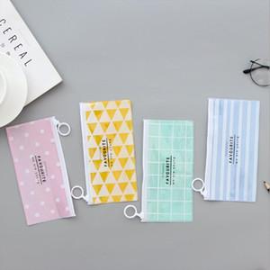 Women Cosmetic Bag PVC Zipper Toiletry Travel Portable Toothbrush Wash Organizer Makeup Pouch Pencil Case Free Shipping