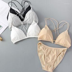 Linbaiway Sexy Women Bra Panty Set Push Up Bralette Sexy Lingerie Wireless Bra Briefs Set for Lady Panties Intimates1