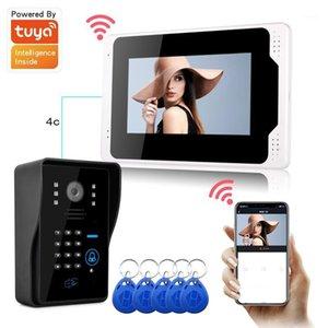 Video-Door-Telefone WiFi 7 Zoll Berührungsbildschirm Digitale Türklingel 1080p HD-Intercom Intercommunication Bell-Telefon-App-Steuerung1