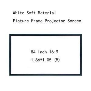 Thinyou белый мягкий материал фото рамка экрана проектор 4.5CM Настенный 84inch 16: 9 кадр Настенная для домашнего офиса КТВ