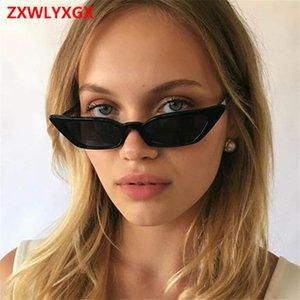 Lunettes de soleil UV inversée / 124; le style femelle / mâle nouveau, rétroviseur transparent, oeil de chat petite couleur, lunettes de soleil