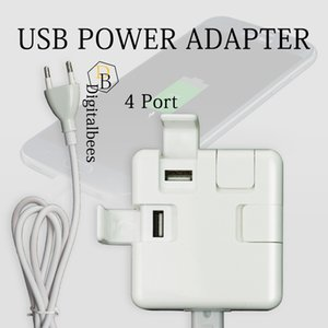 USB Hub Power Adapter 4 port 3.1a Cellphone Holder Stand Fast Charging Portable Wall Charger For 7G 6G