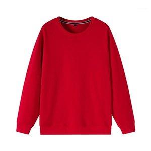 Col rond à manches longues couleur massif multicolore facultés décontractés chandail de pull traitement personnalisation et exercice t-shirts1