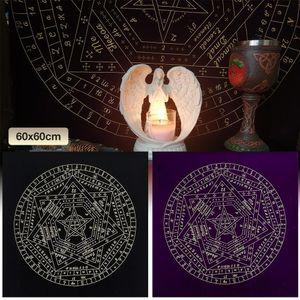 6060cm Tarot-Karte Tischdecke Astrologie Velvet Mysterious Muster Deck Tabelle Tarot-Karten Divination Game Table Cloth Brettspiele yxlBZG