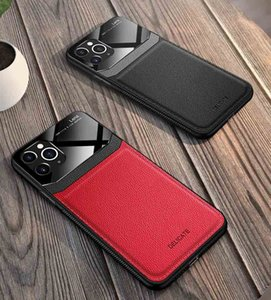 Creative Leather Phone Case for iPhone 12 11 11Pro 11Pro Max XSMAX XR X XS Fashion TPU Protective Dermatoglyph Back Cover 4 Colors