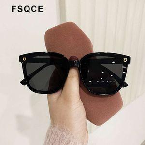 FSQCE Fashion Brand Designer Cat Eye Mujer Gafas de sol Gafas de sol de gran tamaño Cateye Vintage Eyewear Gafas