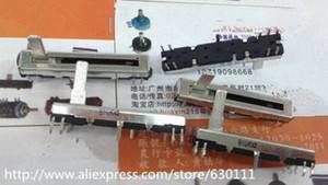 Wholesale-free shipping 10pcs Black 4.5 cm long double mixer fader potentiometer B10K X2 QCjP#