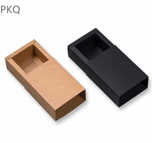 12 Sizes 10pcs Large black kraft paper gift box small kraft cardboard drawer box large size white paper for T shirt